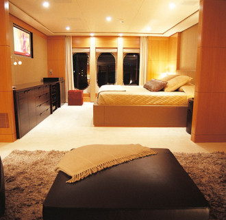 Luxusyacht Gloria Theresa Schlafbereich