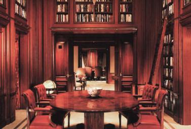 Holzvertäfelung Bibliothek