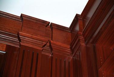 Holzvertäfelung Detailaufnahme