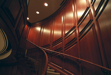 Holzvertäfelung Treppe