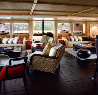 Kogo Luxusyacht Wohnbereich