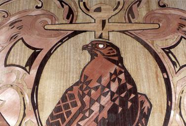 Holzbild mit Adler