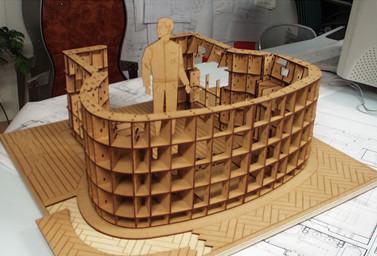 Kleines Holzmodell