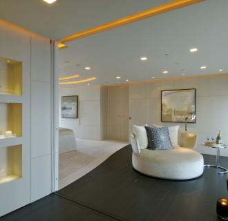 Luxusyacht Siren Wohnbereich