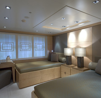 Triple Seven Luxusyacht Gäste-Schlafzimmer