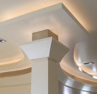 Triple Seven Luxusyacht Detailaufnahme Decke