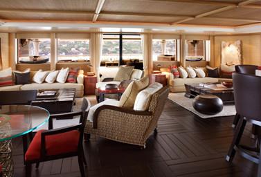Luxusyacht Kogo Wohnbereich