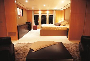 Luxusyacht Schlafbereich