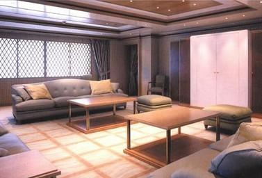 Luxusyacht Wohnbereich