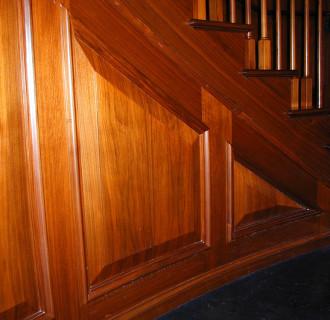 Investor New York Treppe aus Holz - Detailaufnahme
