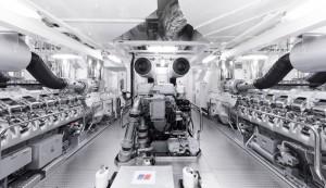 Luxusyacht Luna Maschinenraum