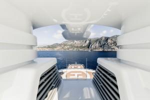 Luxusyacht Luna Detailaufnahme