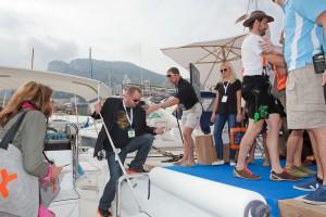 Monaco Yachtshow 2013 Künstler im Außenbereich