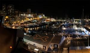 Monaco Yachtshow 2014 Knochen auf Monaco bei Nacht