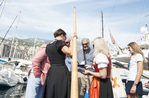 Monaco Yachtshow 2014 Szene von Messe
